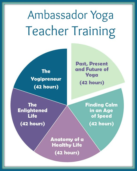the ambassador yoga teacher training consists of 5 modules divided into 42 hour chunks to complete the 200 hour teacher training for teens