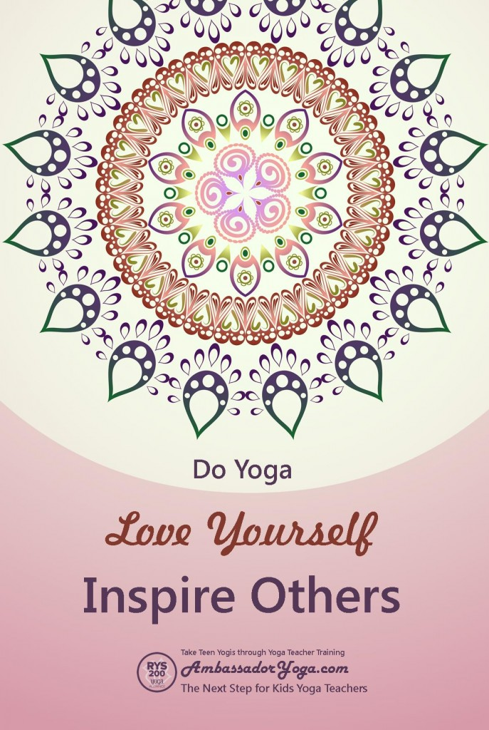 Teen Yoga Poster - Free 12 x 18 inch from AmbassadorYoga.com where kids yoga teachers become Yoga