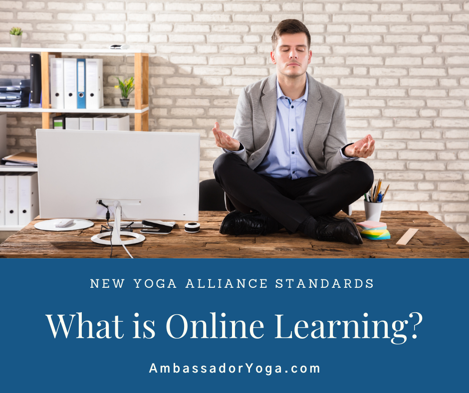 What is online learning under the new Yoga Alliance standards?