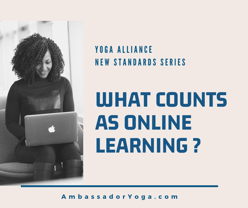 what counts as online learning with Yoga Alliance registered yoga schools?